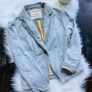 ANTHROPOLOGIE Cartonnier Gray Blazer Jacket 2